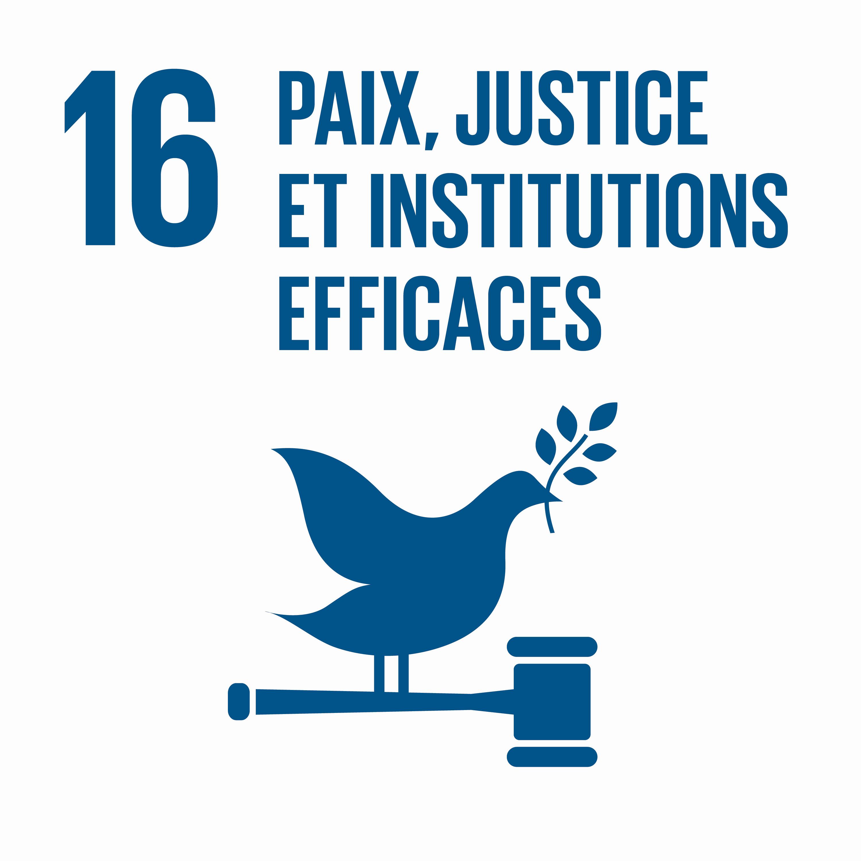 Paix, justice et institutions efficaces - Objectif 16